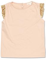 Marie Chantal Sequin Sleeve T-Shirt