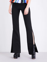 SOLACE London Ray flared crepe trousers