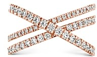 Paige Hayley for Hearts on Fire 18K Rose Gold Harley Wrap Power Band with Diamonds & Pink Sapphire