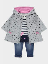 George 3 Piece Hooded Jacket, Top and Jeans Set