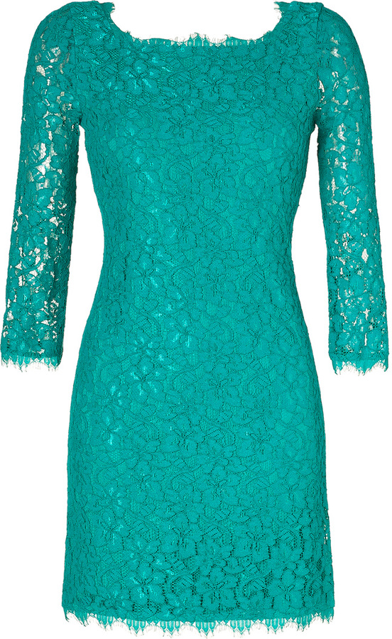 Diane von Furstenberg Parakeet Green Zarita Dress