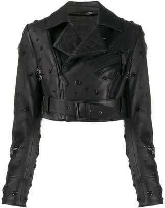 Philipp Plein Cropped Studded Jacket