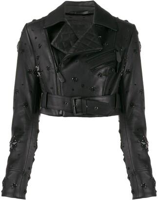 Philipp Plein cropped studded jacket