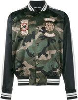 Valentino patch appliquéd camouflage bomber jacket - men - Cotton/Polyamide/Polyester/Viscose - 46