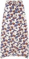 **Tenki White Floral Maxi Skirt