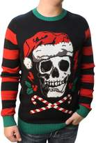 Ugly Christas Sweateren's Skull Santa Hat Light Up Pullover Sweatshirt-ediu