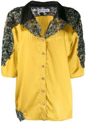 Almaz beaded lace panels shirt