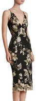 Dress the Population Women's 'Lucy' Embroidered Midi Dress