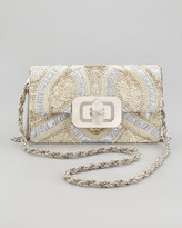 Marchesa Phoebe Large Shoulder Bag, Silver