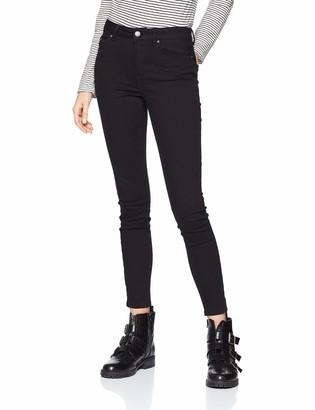 Pieces Women's Pcdelly DLX Mw Cr B247 Stay Black/noos Skinny Jeans 29W