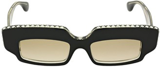 Gucci Crystal Bolded Acetate Sunglasses