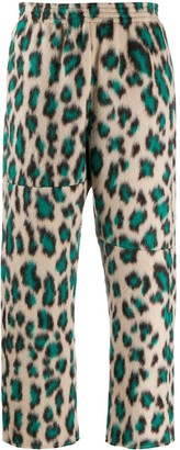 MM6 MAISON MARGIELA Leopard-Print Cropped Trousers