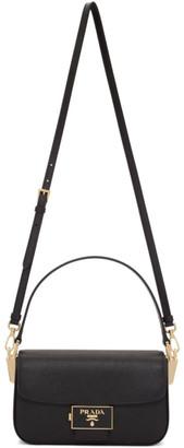 Prada Black Saffiano Embleme Bag