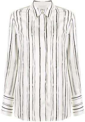 3.1 Phillip Lim Ls Painted Stripe Blouse