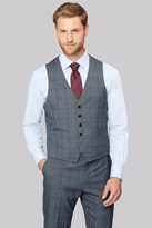 Moss Esq. Regular Fit Vintage Check Waistcoat