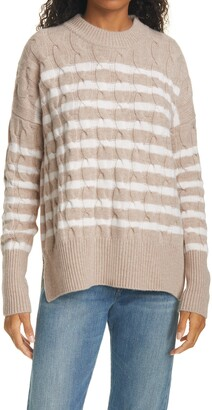 La Ligne Marin Stripe Wool & Cashmere Sweater