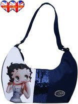 Betty Boop Clasp Rhinestones Shoulder Bag Official Licensed