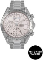 Omega Pre-Owned Speedmaster Reduced Triple Calendar Silver Dial Stainless Steel Mens Watch Ref 3521.3