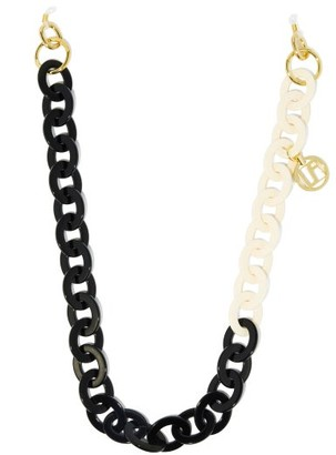 Linda Farrow Gold-plated Charm Acetate Glasses Chain - Black White