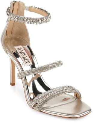 Badgley Mischka Zulema Embellished Strappy Sandal
