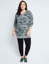 Splendid Camo Courtside Top Essential Active in Blue/White Size Large