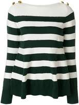 Sacai button striped jumper
