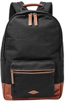 Fossil Men's 'Estate' Canvas Backpack - Black