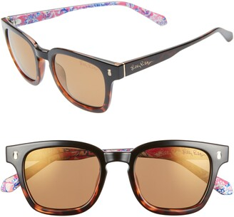 Lilly Pulitzer Josie 48mm Rectangular Sunglasses