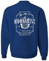 Tee Hunt Moonshine Tennessee Whiskey Crew Neck Sweatshirt Smoky Mountain L