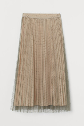 H&M Pleated tulle skirt
