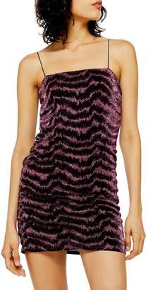 Topshop Glitter Metallic Thread Dress