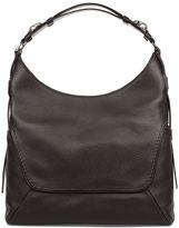 Fay Brown Hammered Leather Shoulder Bag