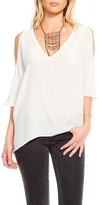 Chaser White Cold Shoulder Top