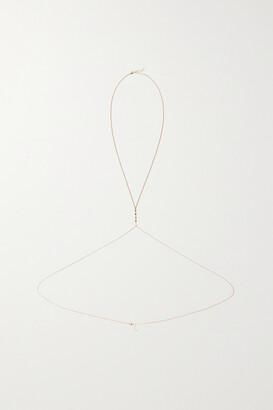 Jacquie Aiche 14-karat Rose Gold Diamond Body Chain - one size