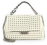 Stella McCartney Becket Small Woven Faux Leather Shoulder Bag