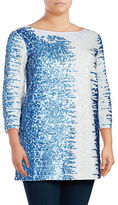 Joan Vass Plus Sequined Pima Cotton Tunic