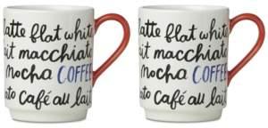Kate Spade 2-Pc. Piping Hot Coffee Mug Set