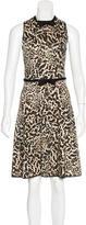 Giambattista Valli Leopard Print A-Line Dress