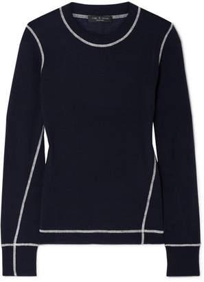 Rag & Bone Shannon Wool Sweater - Navy