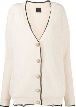 Pinko Metallic Trim Knitted Cardigan