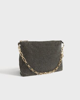 Ted Baker ADYAIA Strass and chain strap evening bag