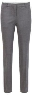 HUGO BOSS Regular Fit Cropped Pants In Traceable Stretch Virgin Wool - Grey