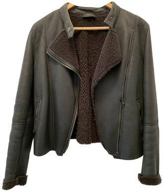 Joseph Grey Leather Leather jackets