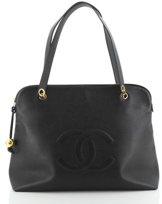 Chanel Vintage Timeless Zip Satchel Caviar Large