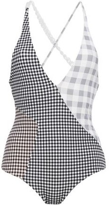 Marysia Swim Chain-trimmed Paneled Gingham Swimsuit