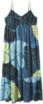 Joe Fresh Women's Print Cami Maxi Dress, Peacock Blue (Size XL)