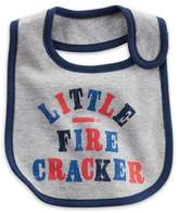 "Carter's âLittle Firecracker"" Bib in Grey"