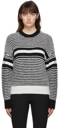 Rag & Bone White and Black Teddy Sweater