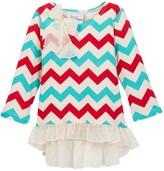 Flap Happy Ashley Hi-Lo Ruffle Trim Print Tunic (Baby Girls, Toddler Girls, & Little Girls)