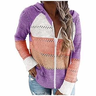 7788 Women's top Knitted Hollow Stitching V-Neck Hooded Sweater Casual Fashion Long-Sleeved Autumn and Winter top Shirt TG77